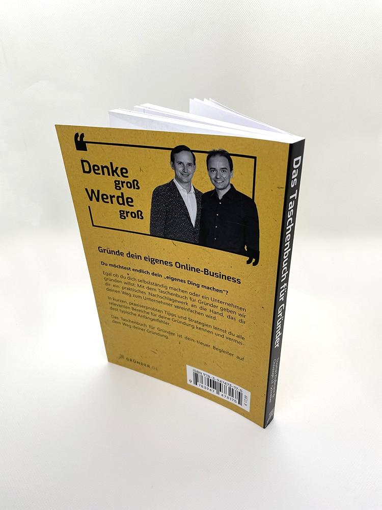 gratis-buch | Das Taschenbuch für Gründer Buchrückseite